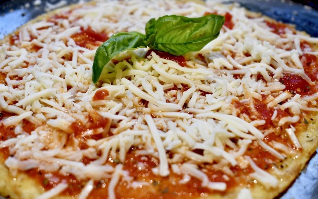 Quick Chicken Crust Parmesan Pizza