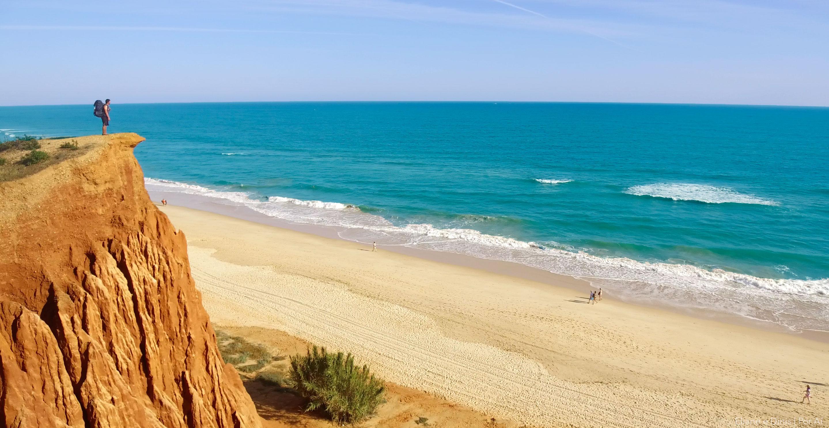 Caminhada por toda Costa Sul de Portugal