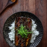 Vegan Unagi Don (Eggplant)