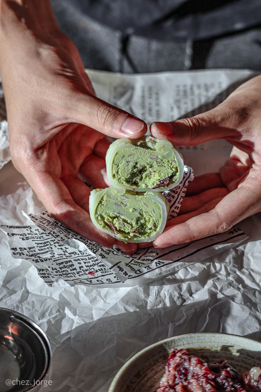 Vegan Mochi Ice Cream (Matcha Red Bean)