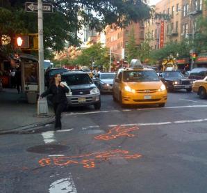 45th street Double cirme scene