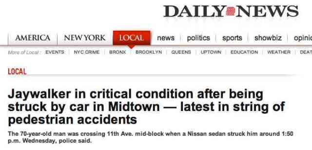 Daily news jaywalking