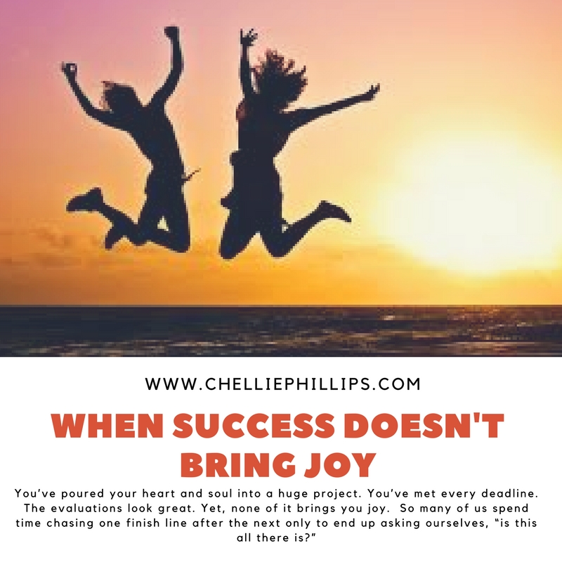 What happens when success doesn't bring you joy?