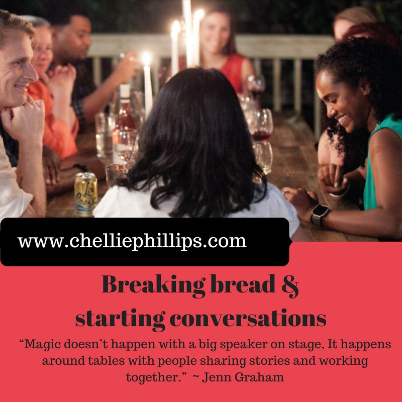 Breaking bread and starting conversations