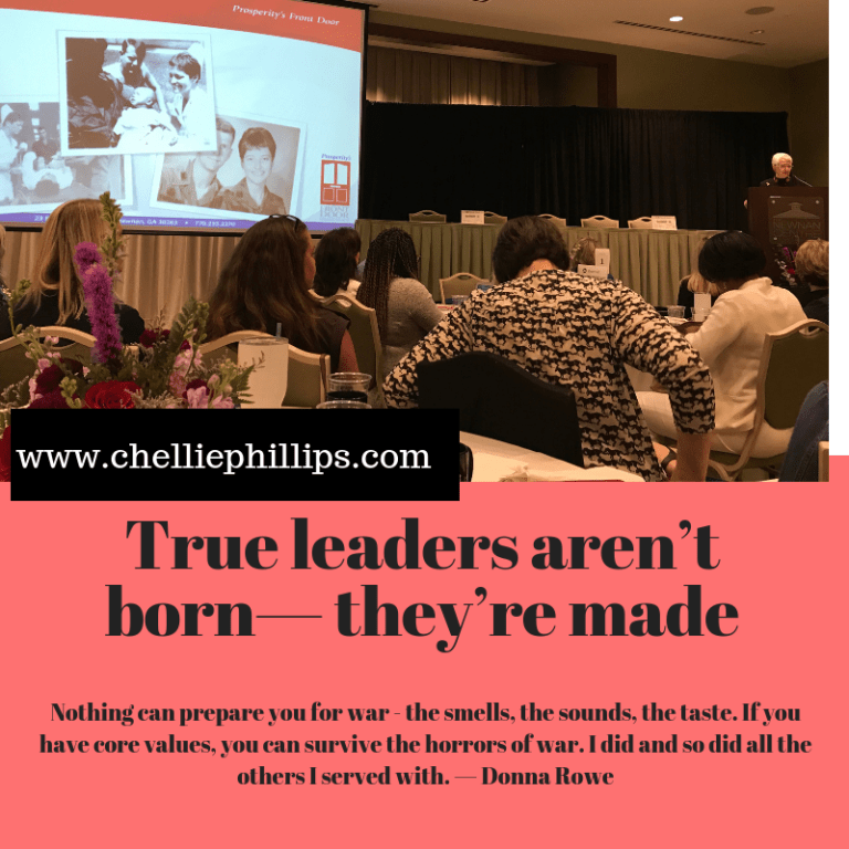 True leaders aren't born—they're made