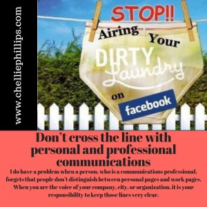 Don't cross the line with personal and professional communications