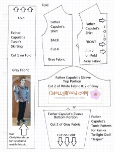 Free Printable Sewing Pattern for Twilight Doll Jasper's Clothes
