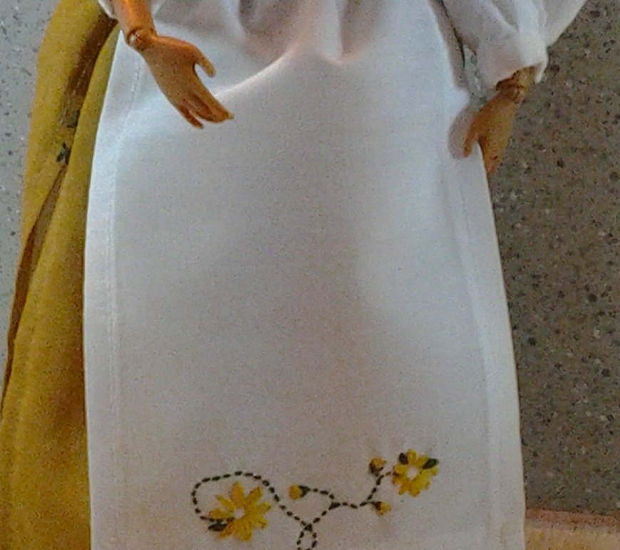 Image of an Apron Designed for Barbie Dolls