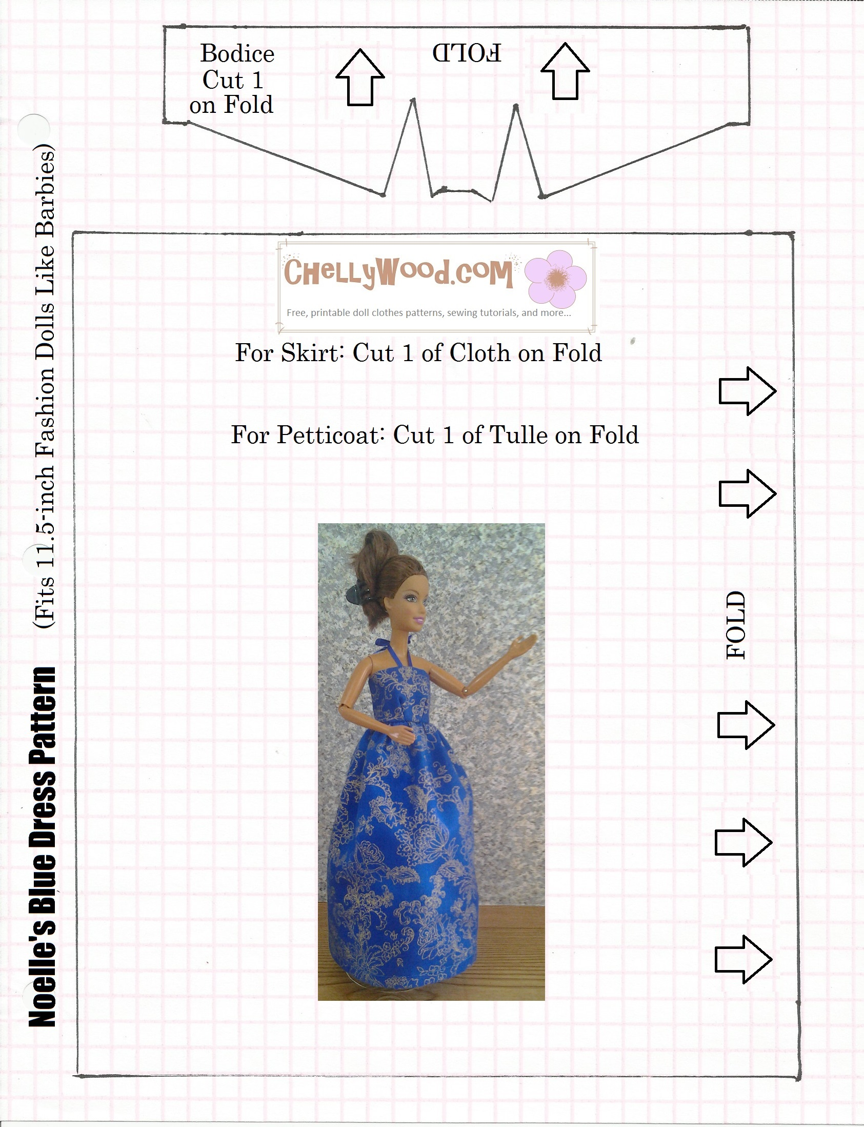 It's just a picture of Transformative Printable Barbie Clothes Patterns