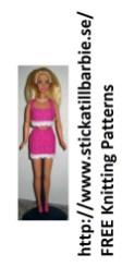 Sticka till Barbie: Free Knitting Patterns