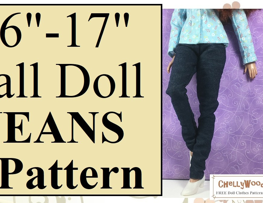 Please visit ChellyWood.com for free, printable sewing patterns for dolls of many shapes and sizes. 17 Inch Doll Clothes Sewing Patterns and YouTube Tutorials FREE