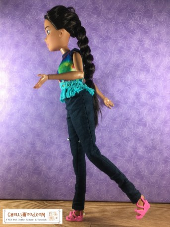 Please click here to find all the free doll clothes patterns and tutorials you'll need to make the outfit shown: https://wp.me/p1LmCj-FJW