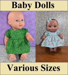 Beneath this image is a link to the directory for free baby doll clothes patterns.