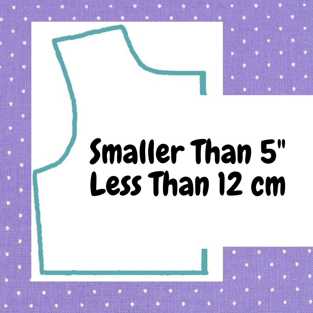 Please click here for free printable doll clothes patterns to fit dolls smaller than five inches or smaller than 12 centimeters tall.