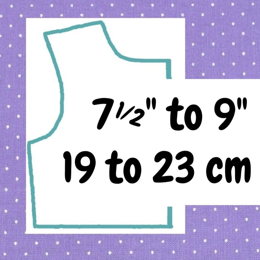 If your doll is 7 and a half inches to 9 inches or 19 to 23 cm tall, click here please.