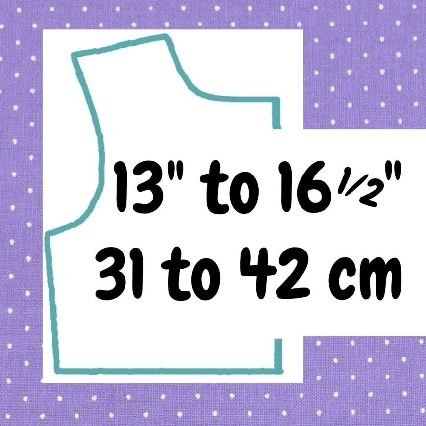 If your doll is 13 to 16 and a half inches or 31 to 42 cm tall, click here please.