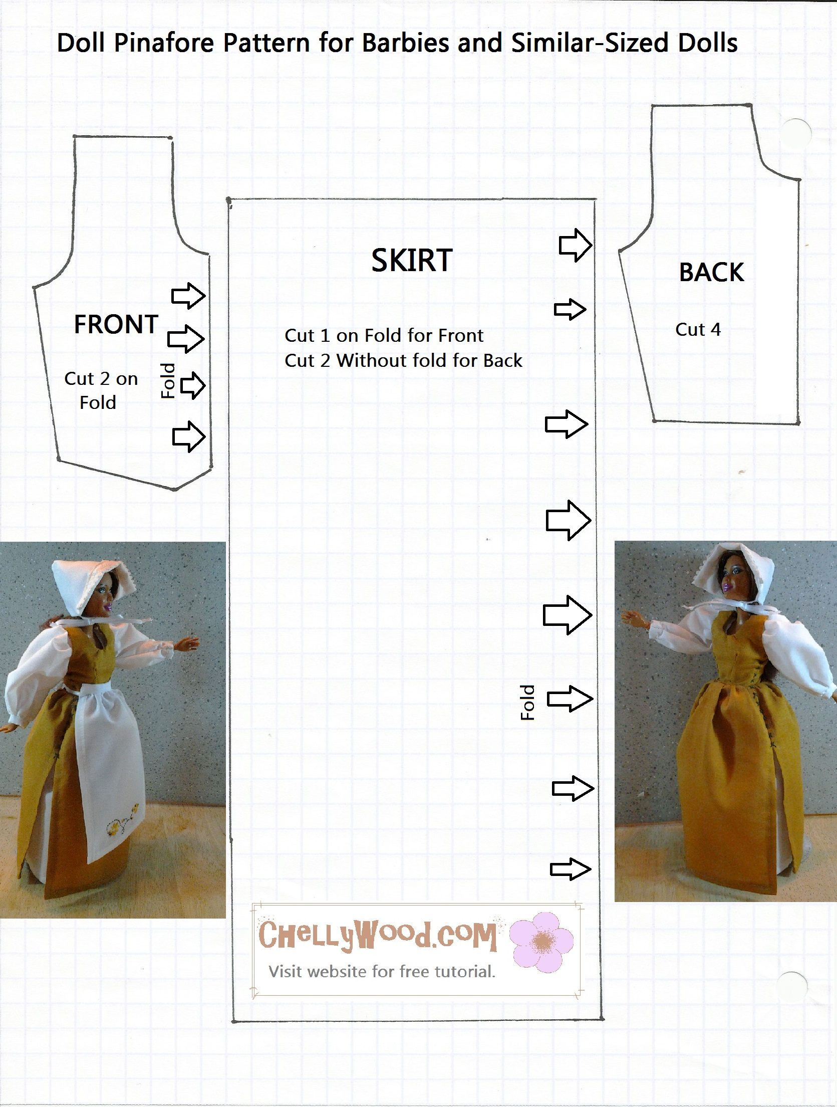 Sew A Thanksgiving Pilgrim Dress For Barbies W Free