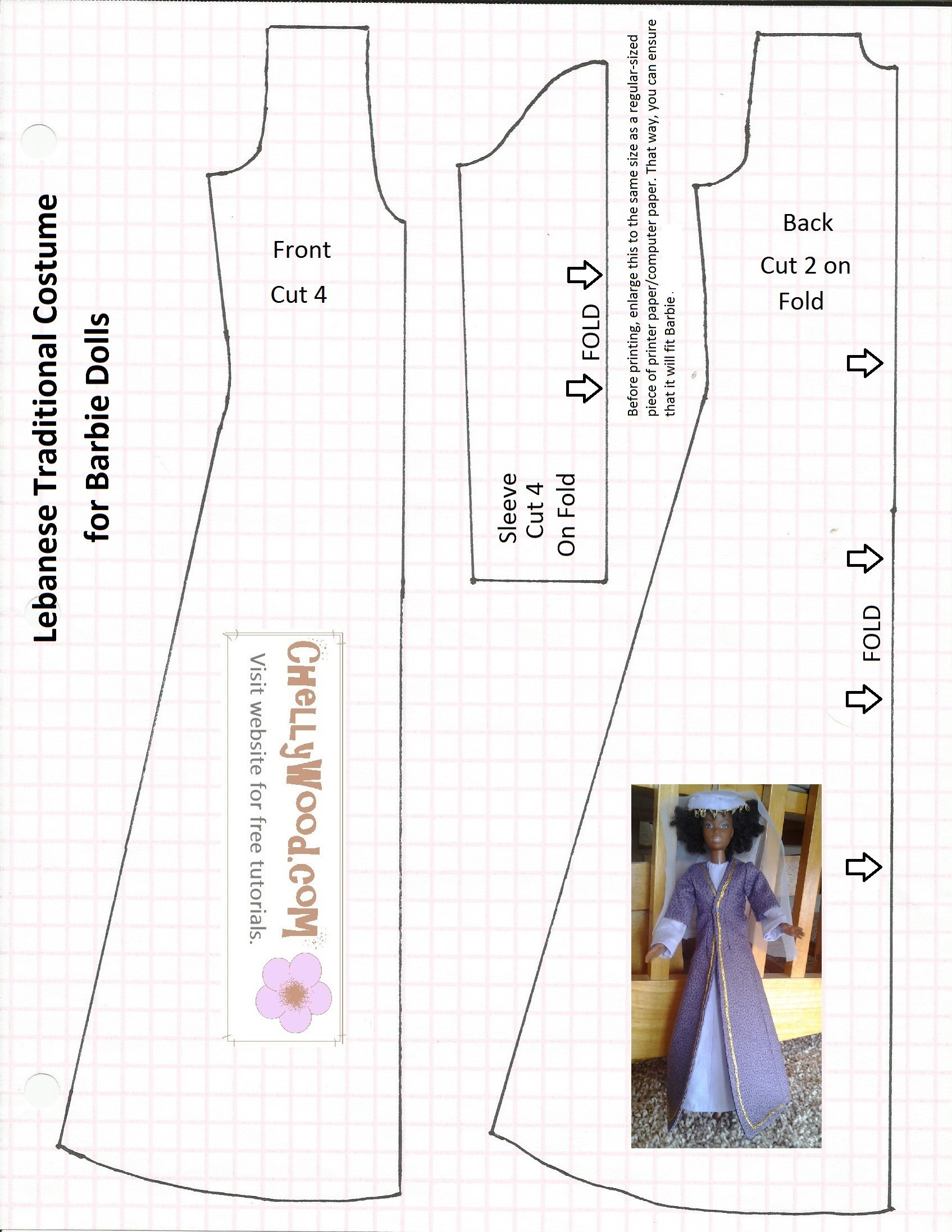 Free Sewing Pattern For Bible Characters Doll Clothes