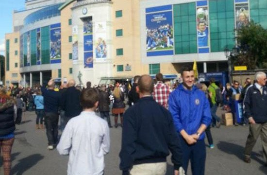 Chegada em Stamford Bridge