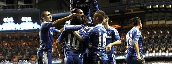 Espírito guerreiro dominou equipe do Chelsea (Foto: FoxSports)