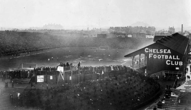 Stamford Bridge lotado na final da FA Cup de 1920 (Foto: Chelsea FC)