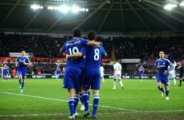 Vitória  mais larga da temporada foi contra os galeses (Foto: Premier League)