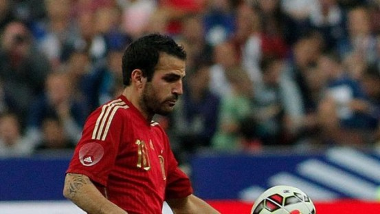 Fábregas junto com seleção espanhola mais uma vez (Foto: Chelsea FC)