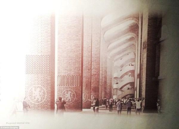 Imagens disponíveis para moradores e sócios mostram o exterior do estádio