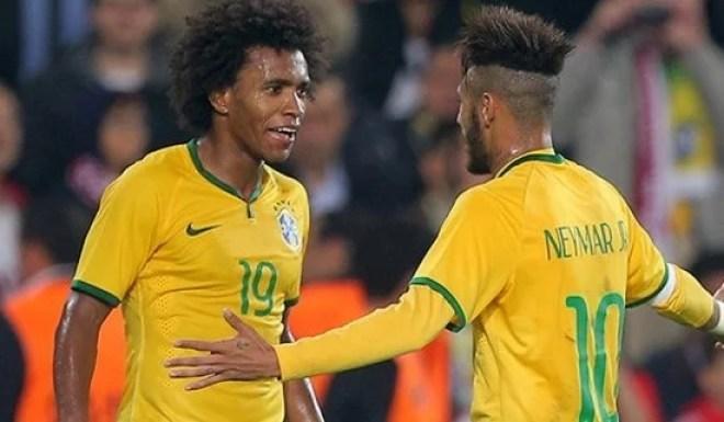 Willian desempenhou um papel importante na vitória do Brasil sobre o Peru (Foto: Chelsea FC)