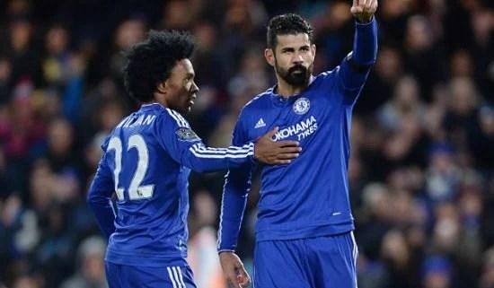Diego Costa quebra jejum de gols com a camisa do Chelsea (Foto: Andy Hooper)