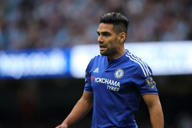 MANCHESTER, ENGLAND - AUGUST 16: Radamel Falcao of Chelsea during the Barclays Premier League match between Manchester City and Chelsea at the Etihad Stadium on August 16, 2015 in Manchester, England. (Photo by Matthew Ashton - AMA/Getty Images)