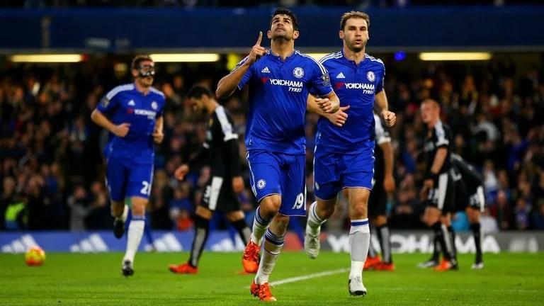 Diego Costa marcou duas vezes na última partida entre os clubes (Foto: Getty Images)