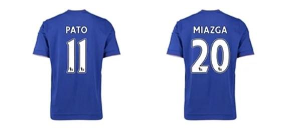 Novos jogadores tiveram seus números revelados (Foto: Chelsea FC MegaStore)