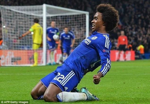 Willian tem sido o destaque e o perito em faltas no Chelsea