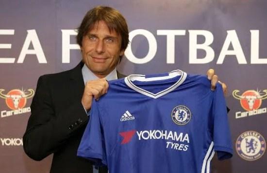 Conte deu sua primeira entrevista como treinador azul (Foto: Chelsea FC)