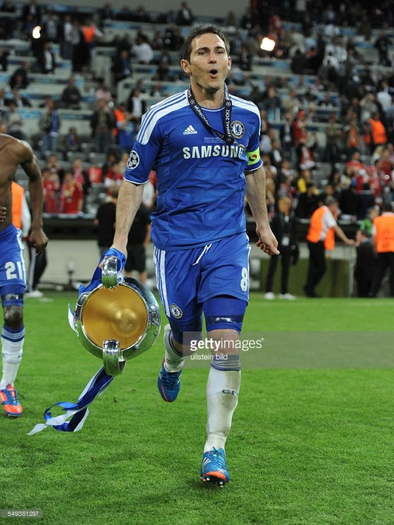 Lampard capitaneou o Chelsea na final em Munique