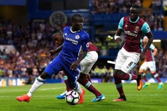 Kanté enfrentou o West Ham no último confronto dos dois times (Foto: Getty)