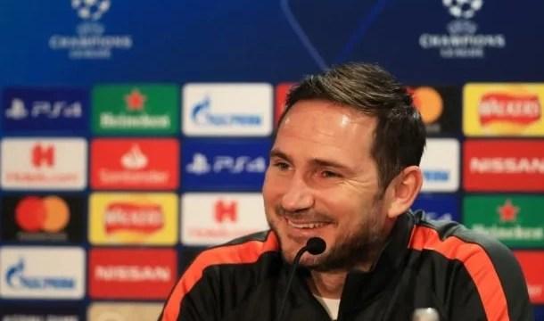 Frank Lampard concede entrevista sobre Champions League e jogos da primeira fase