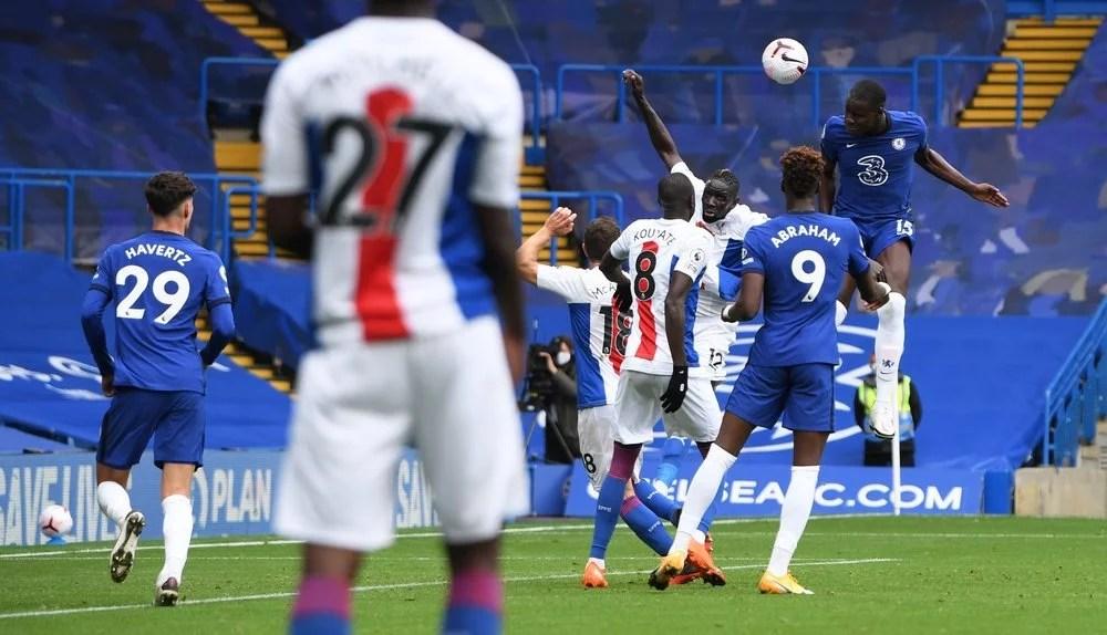 Kurt Zouma marcou o segundo gol do Chelsea na partida contra o Palace. (Chelsea FC / Website)