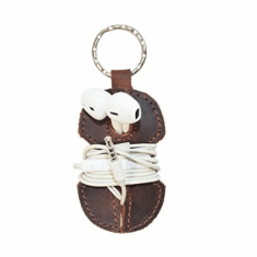 Leather headphones keychain