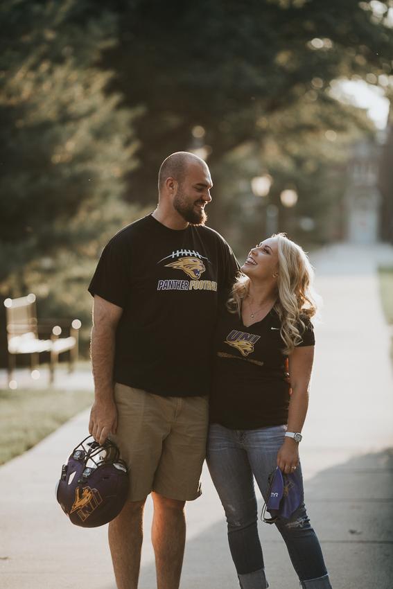University of Northern Iowa Engagement Photos - Abby & Trevor