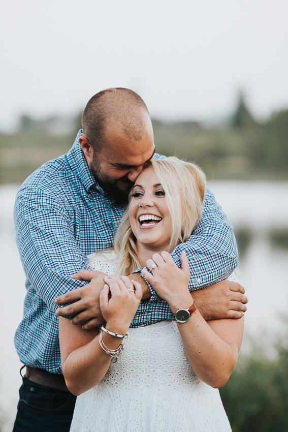 Chelsea Dawn Weddings, Iowa wedding photographer, Engagement session at Prairie Lakes in Cedar Falls