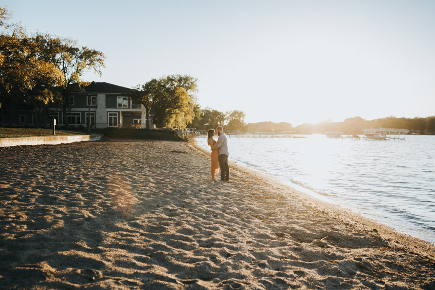 Iowa wedding photographer - Clear Lake engagement session