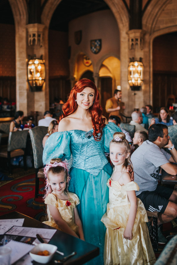 Inside Cinderella's Castle in Disneyworld