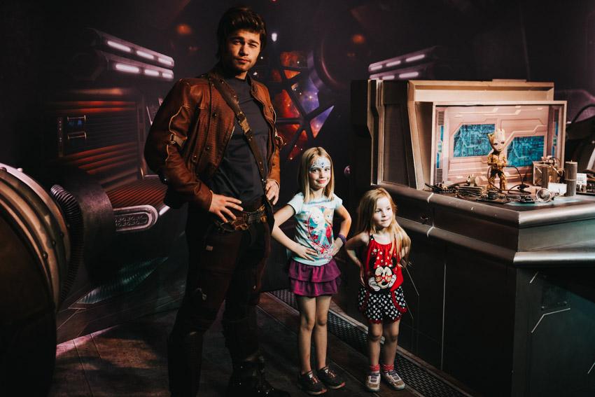 Meeting Peter Quil (Starlord) at Disneyworld