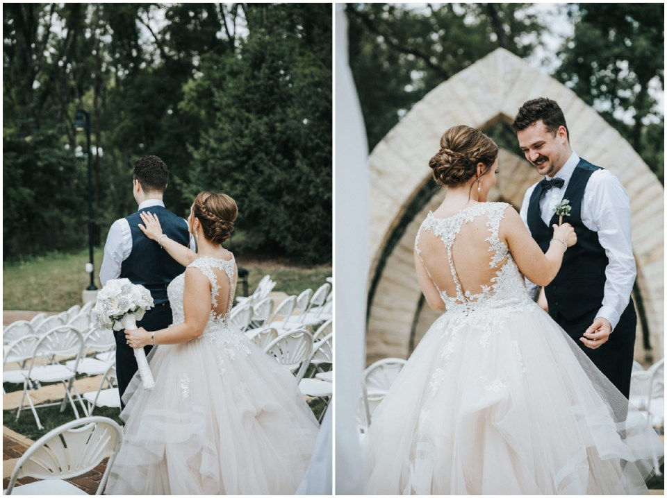 Sarah & Dusty's first look at the Celebration Farm
