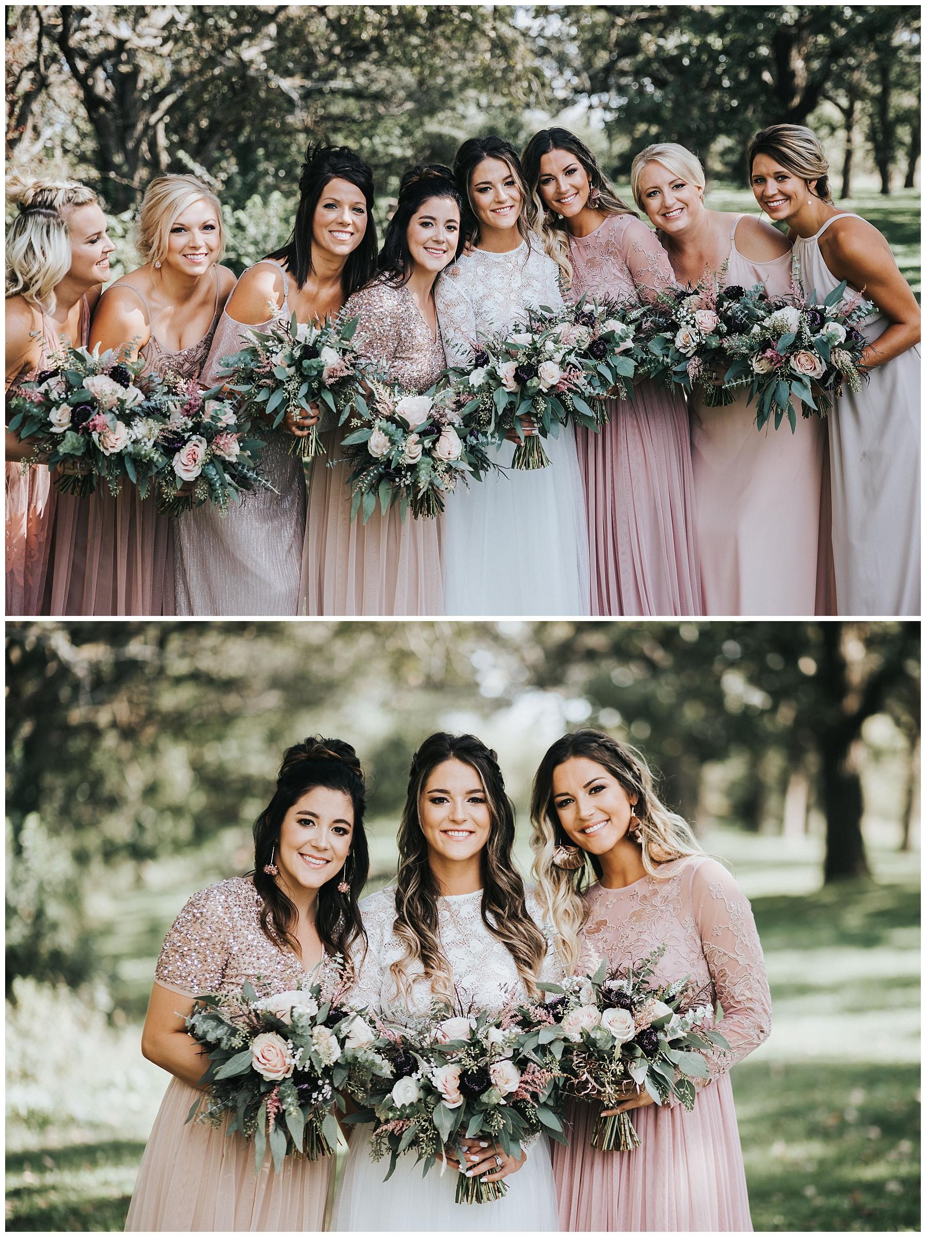 Stunning bride and bridesmaids!
