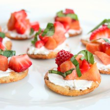 Strawberry Peach Goat Cheese Bites