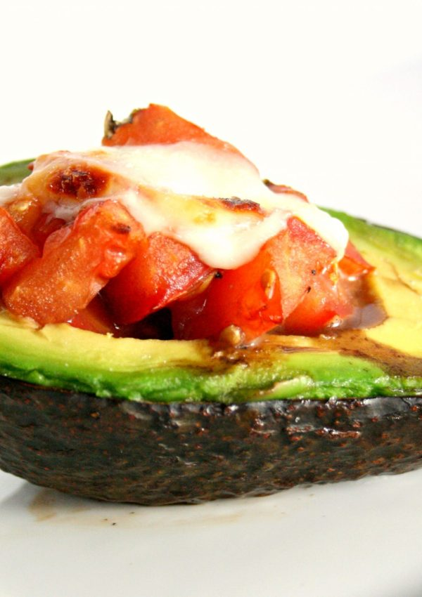 Mozzarella and Tomato Stuffed Avocado