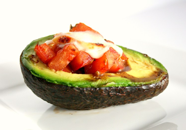 Mozzerella and Tomato Stuffed Avocado